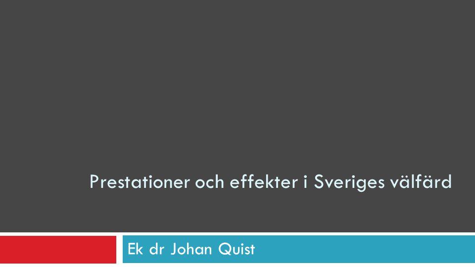 Prestationer och effekter i Sveriges välfärd