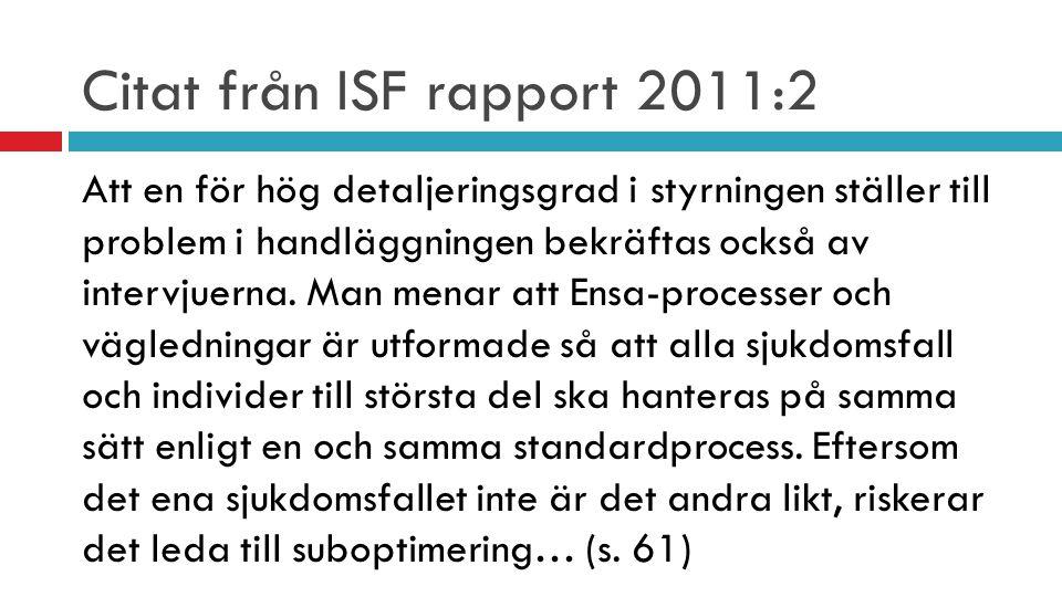 Citat från ISF rapport 2011:2