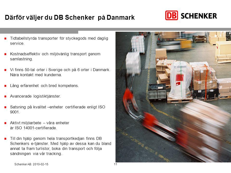 Därför väljer du DB Schenker på Danmark