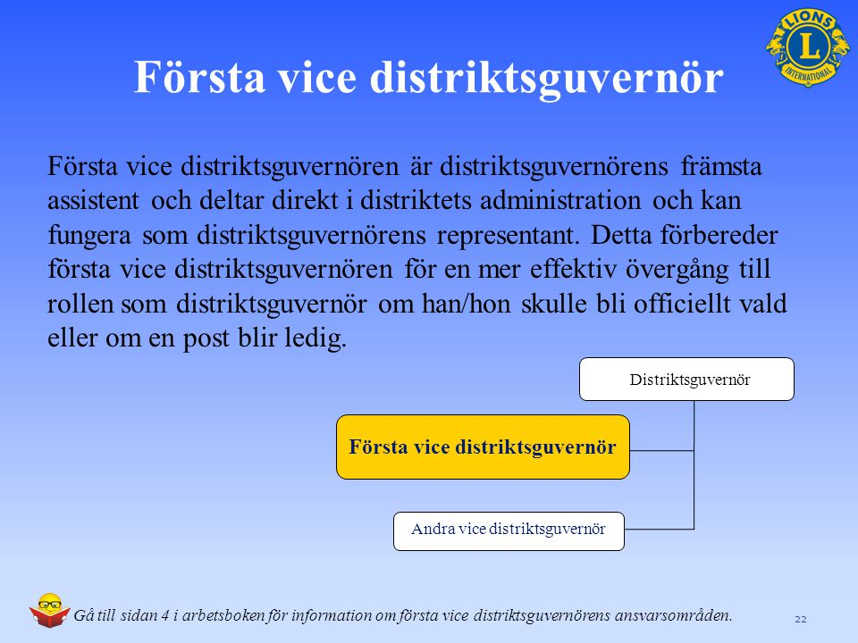 Första vice distriktsguvernör