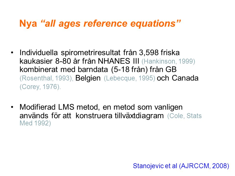 Nya all ages reference equations