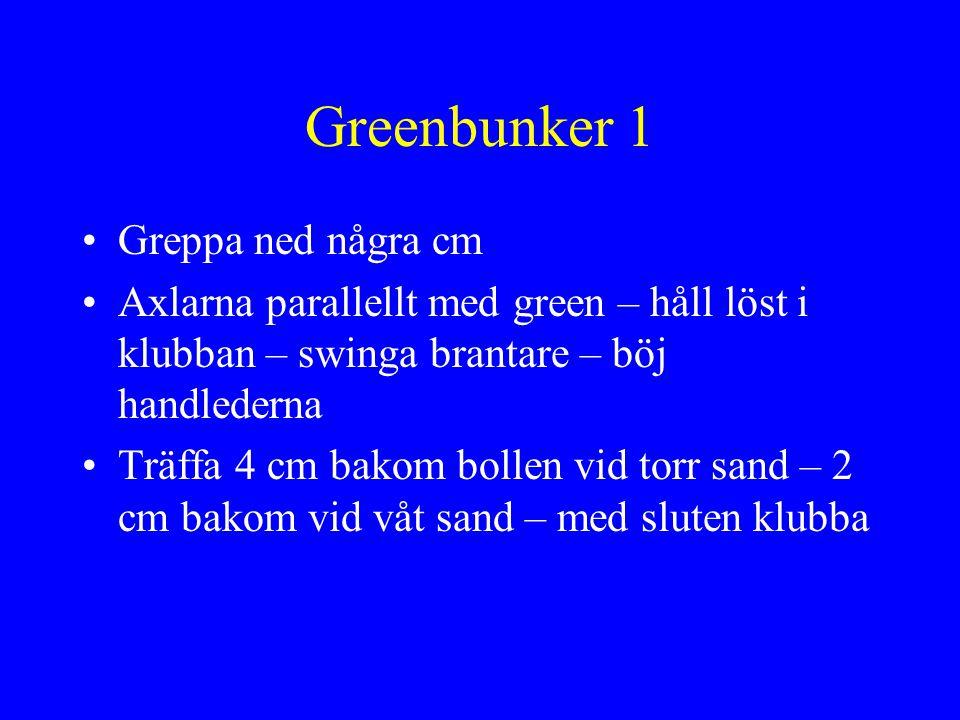 Greenbunker 1 Greppa ned några cm