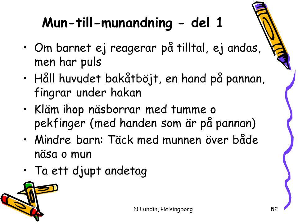 Mun-till-munandning - del 1