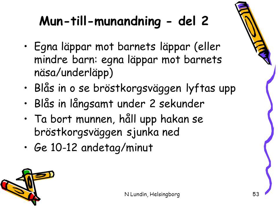 Mun-till-munandning - del 2