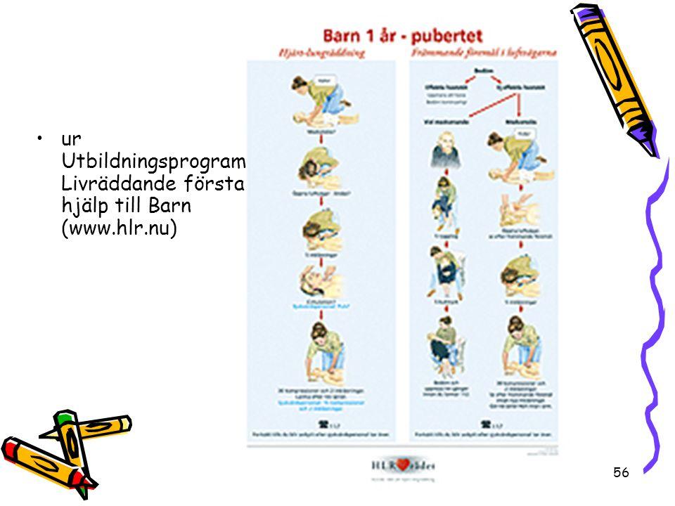ur Utbildningsprogram Livräddande första hjälp till Barn (www.hlr.nu)