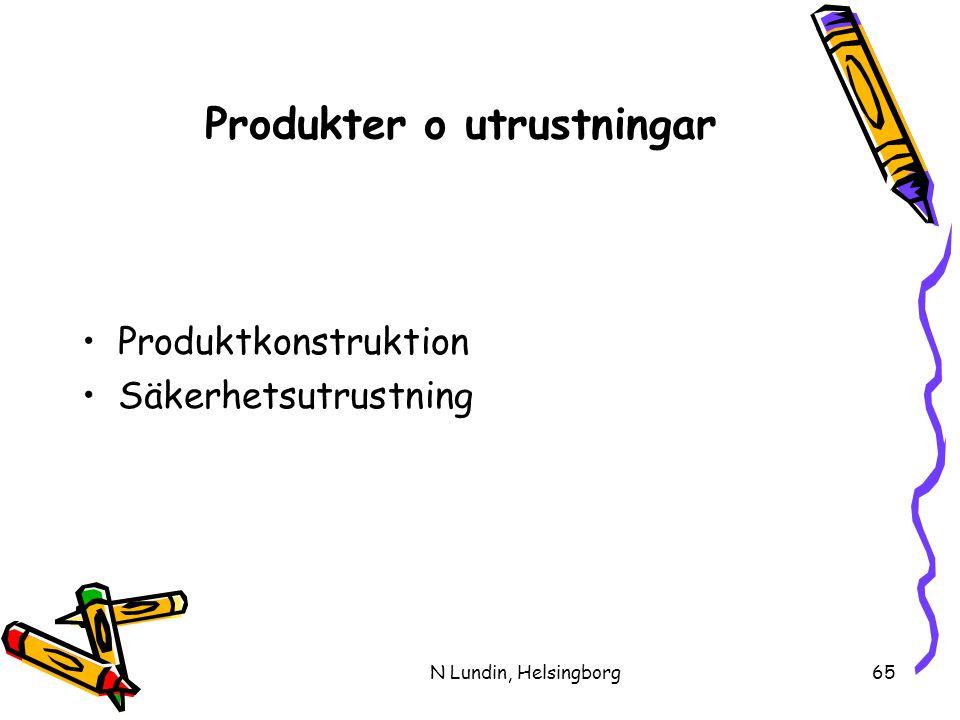 Produkter o utrustningar