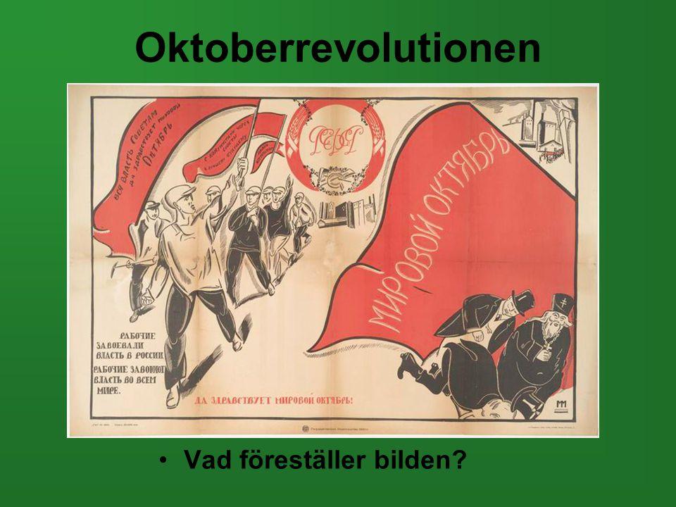 Oktoberrevolutionen Vad föreställer bilden
