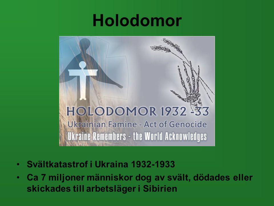 Holodomor Svältkatastrof i Ukraina 1932-1933