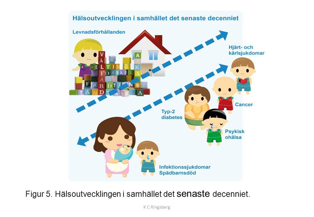 Figur 5. Hälsoutvecklingen i samhället det senaste decenniet.
