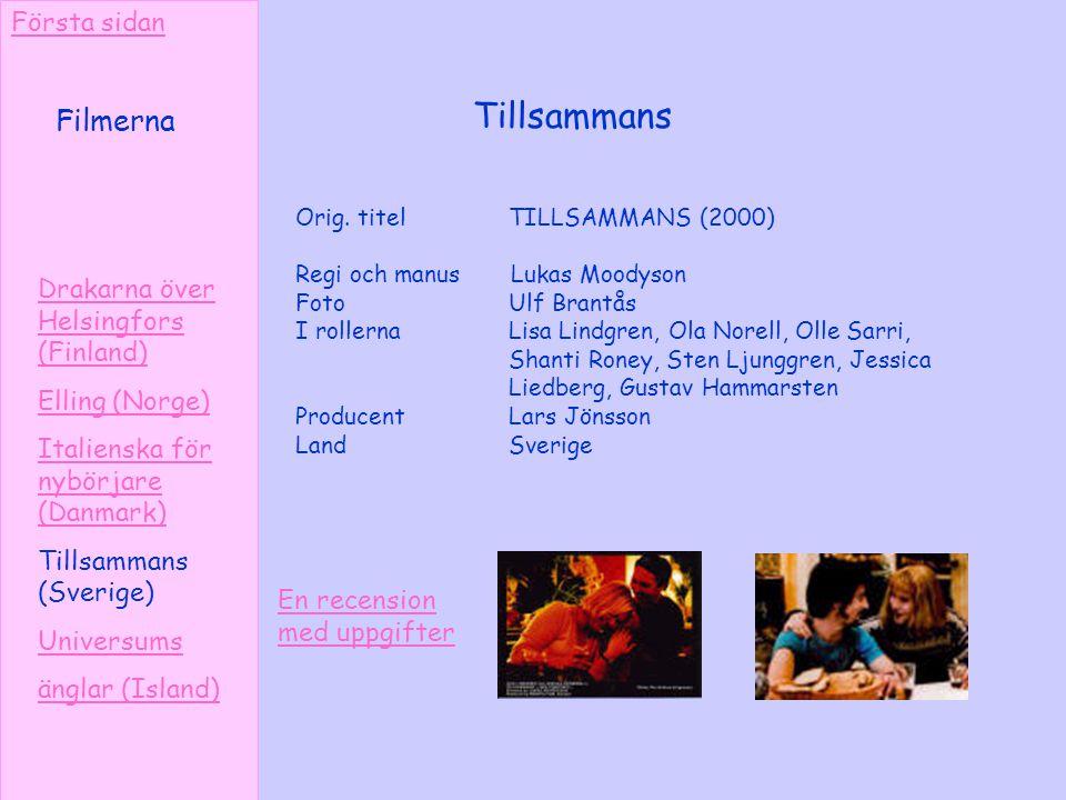 Tillsammans Filmerna Första sidan Drakarna över Helsingfors (Finland)