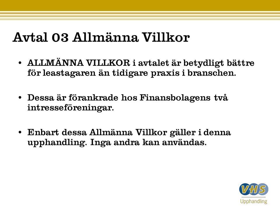 Avtal 03 Allmänna Villkor