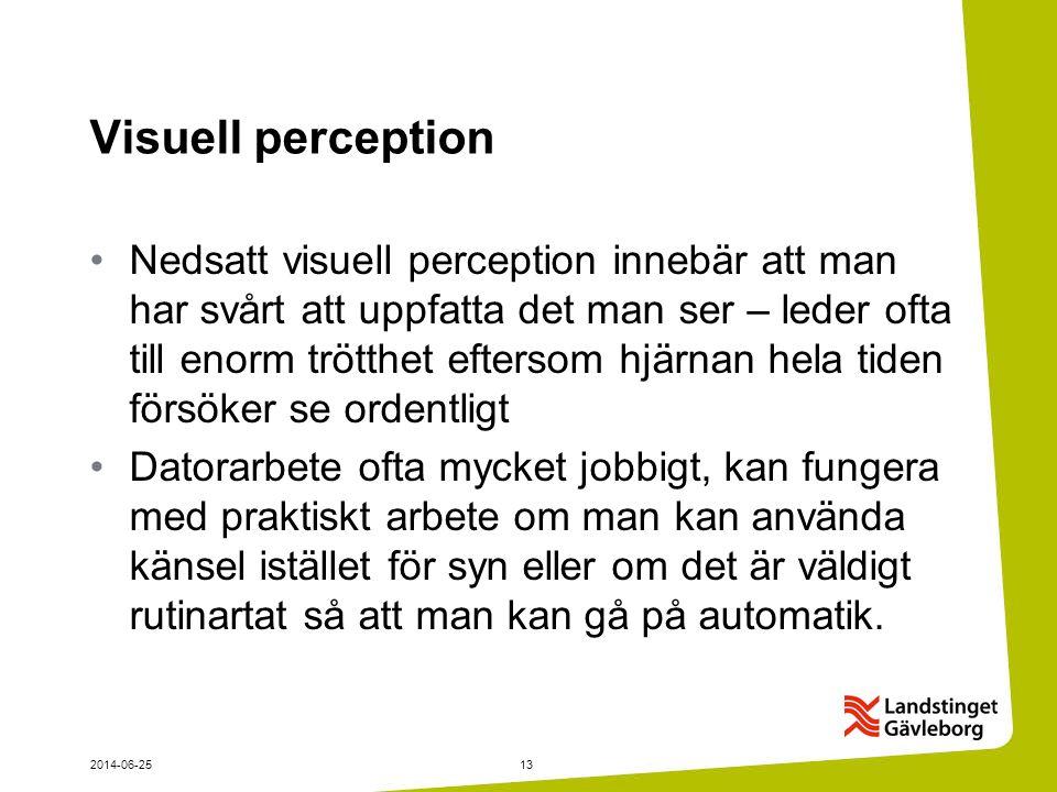 Visuell perception
