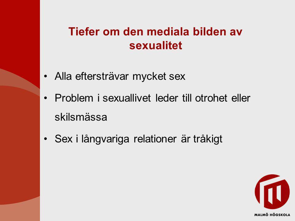 Tiefer om den mediala bilden av sexualitet