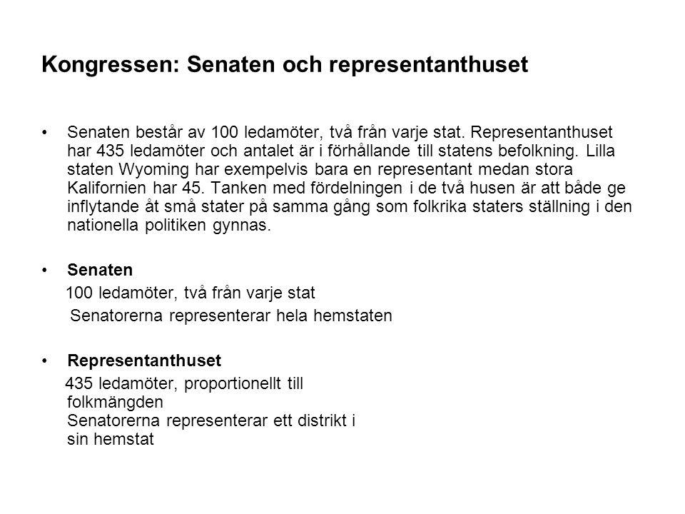 Kongressen: Senaten och representanthuset