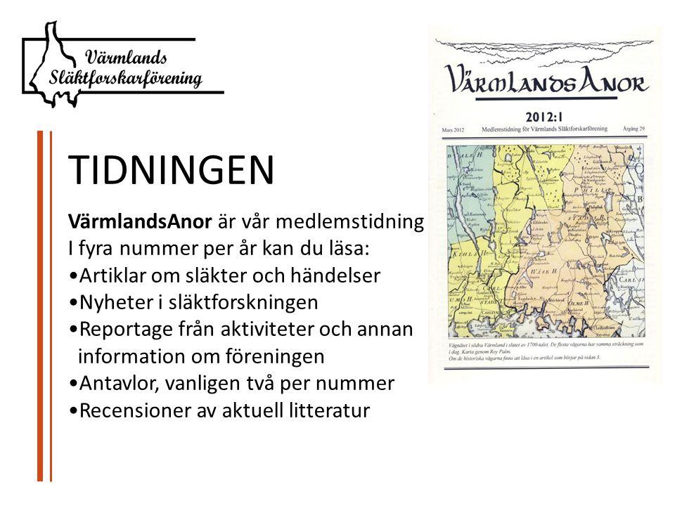 TIDNINGEN VärmlandsAnor är vår medlemstidning