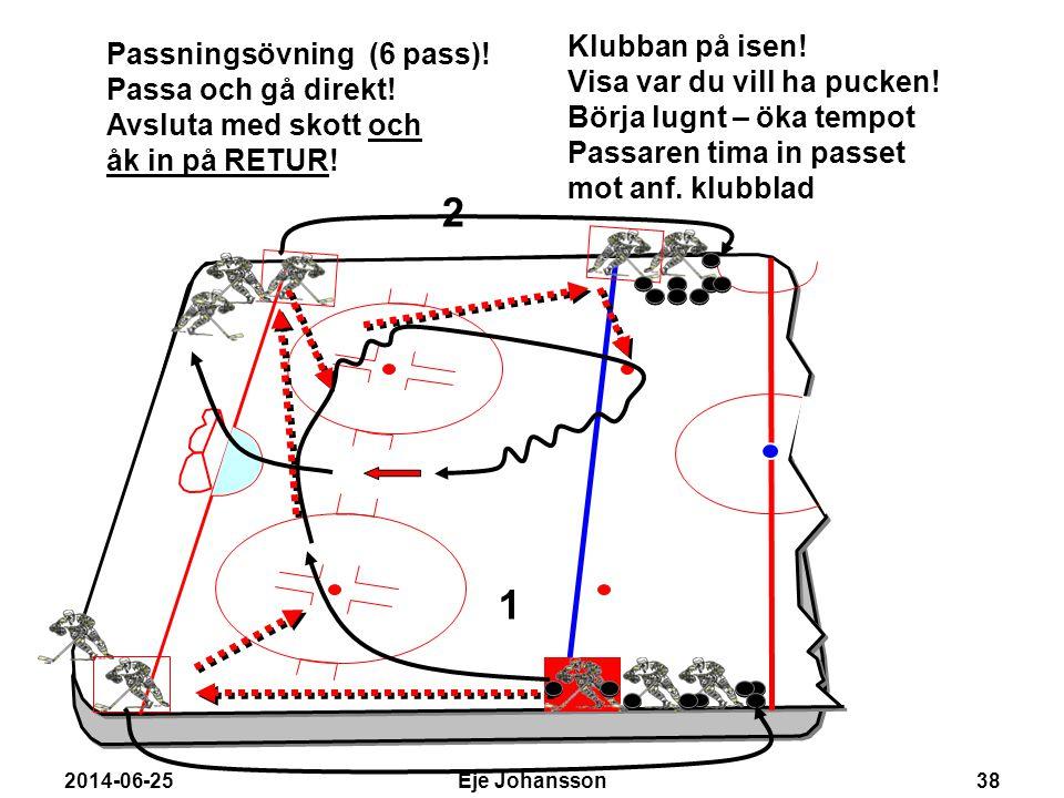 2 1 Klubban på isen! Passningsövning (6 pass)!
