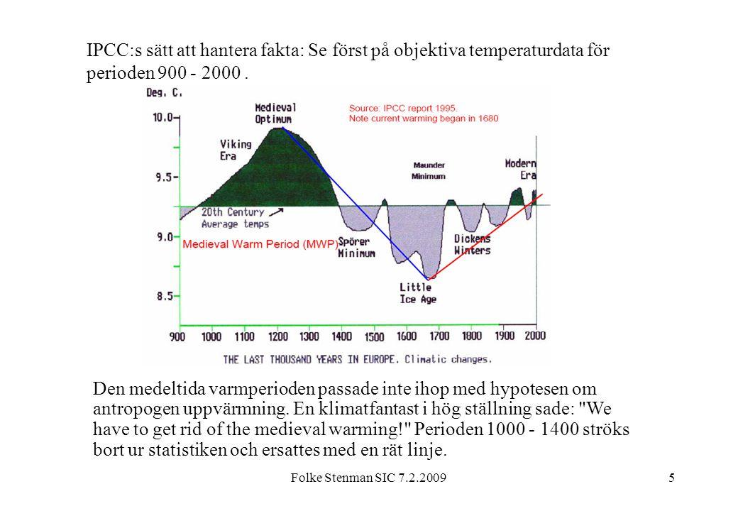 IPCC:s sätt att hantera fakta: Se först på objektiva temperaturdata för perioden 900 - 2000 .