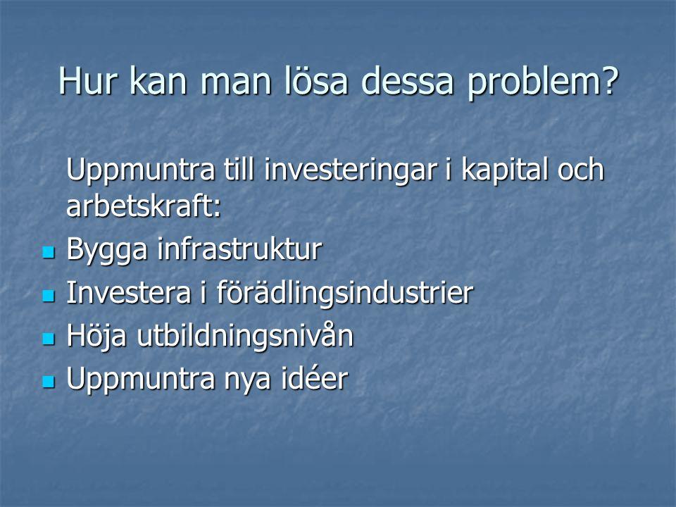 Hur kan man lösa dessa problem