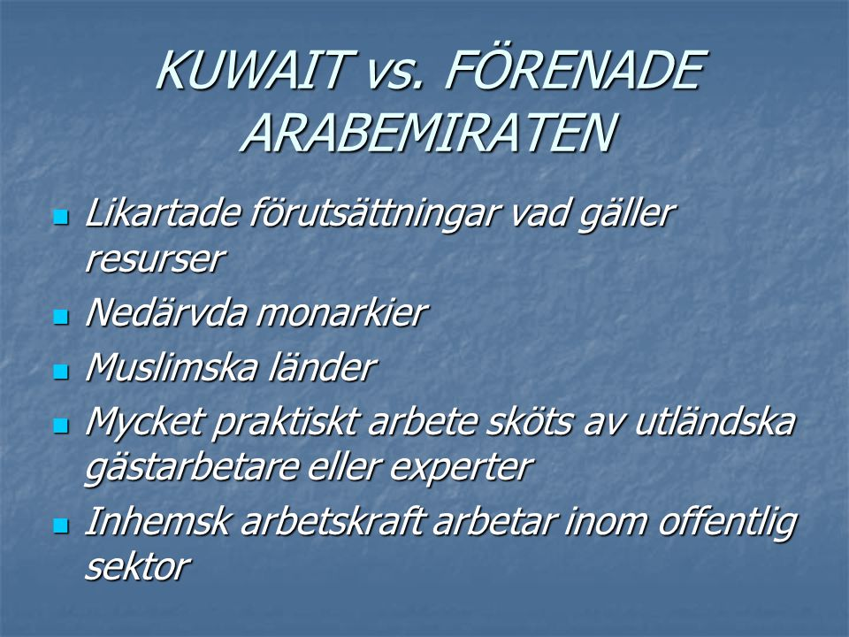 KUWAIT vs. FÖRENADE ARABEMIRATEN
