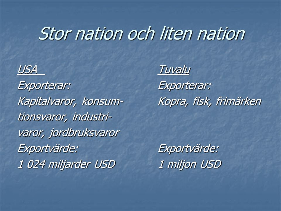 Stor nation och liten nation