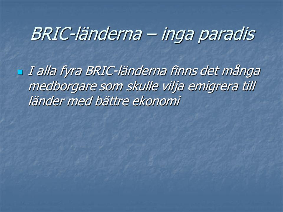 BRIC-länderna – inga paradis