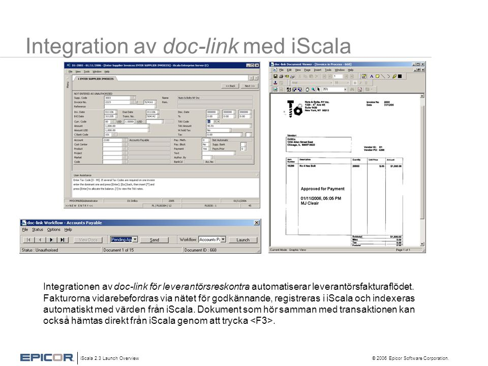 Integration av doc-link med iScala