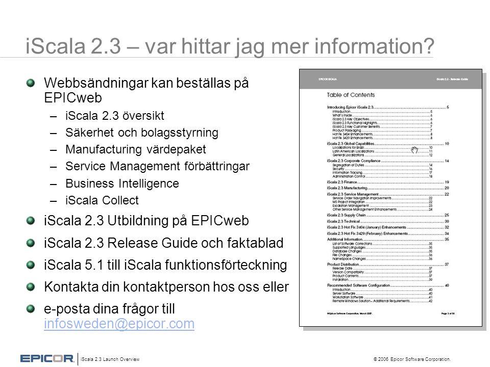 iScala 2.3 – var hittar jag mer information