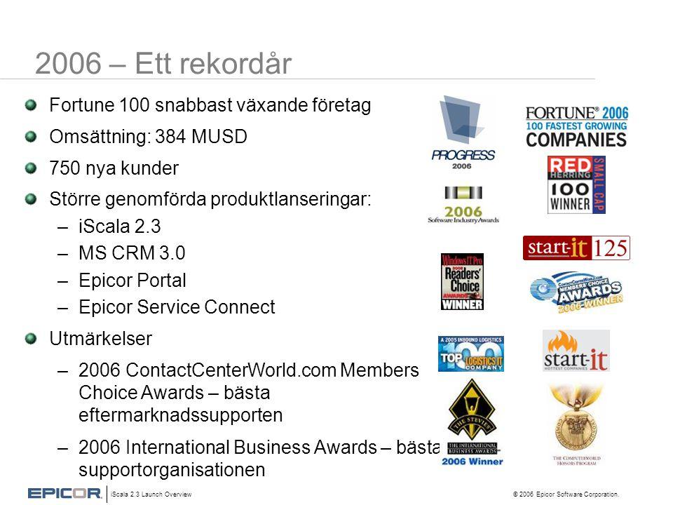 2006 – Ett rekordår Fortune 100 snabbast växande företag