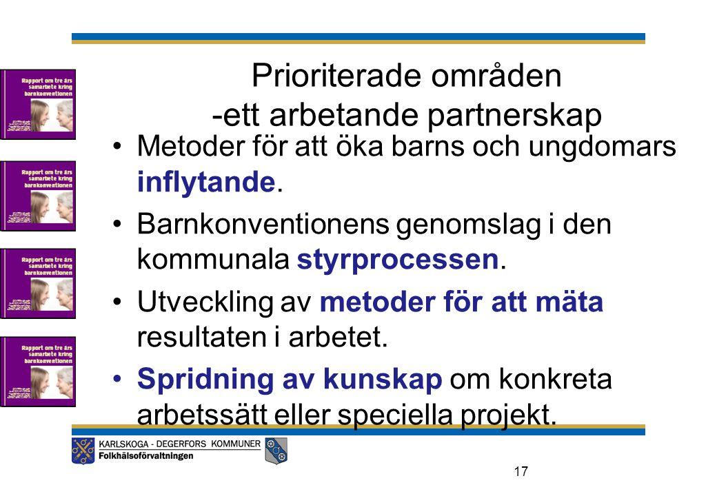 Prioriterade områden -ett arbetande partnerskap