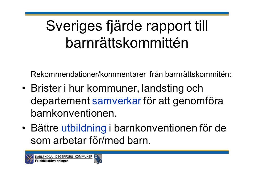 Sveriges fjärde rapport till barnrättskommittén