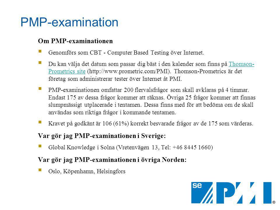 PMP-examination Om PMP-examinationen
