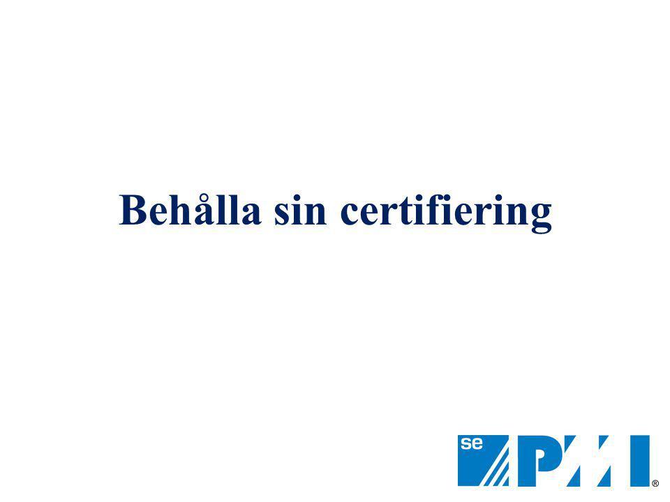 Behålla sin certifiering