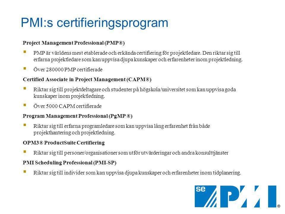 PMI:s certifieringsprogram