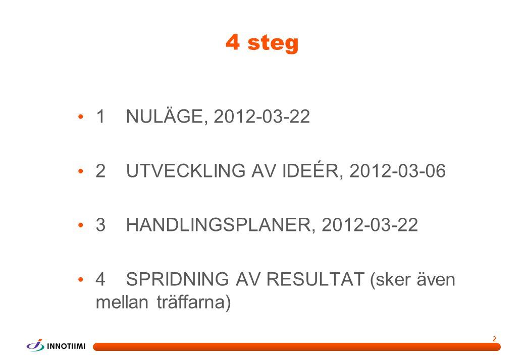 Steg 1 – Nuläge 2012-02-23