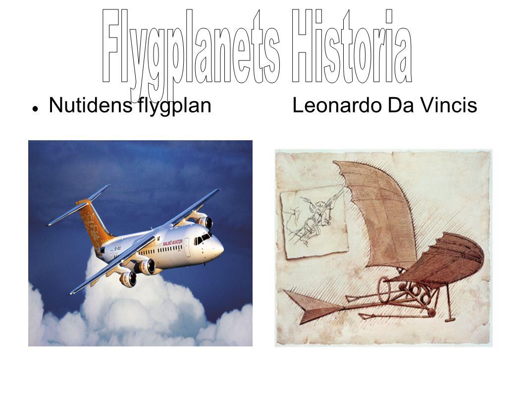 Flygplanets Historia Nutidens flygplan Leonardo Da Vincis