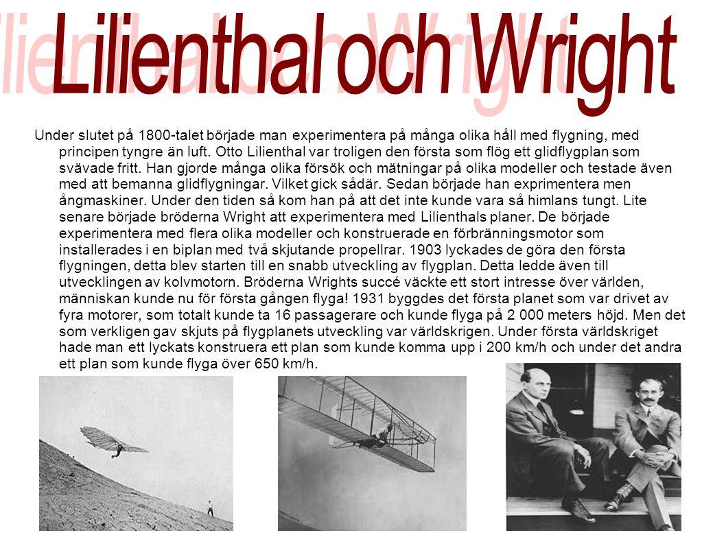 Lilienthal och Wright