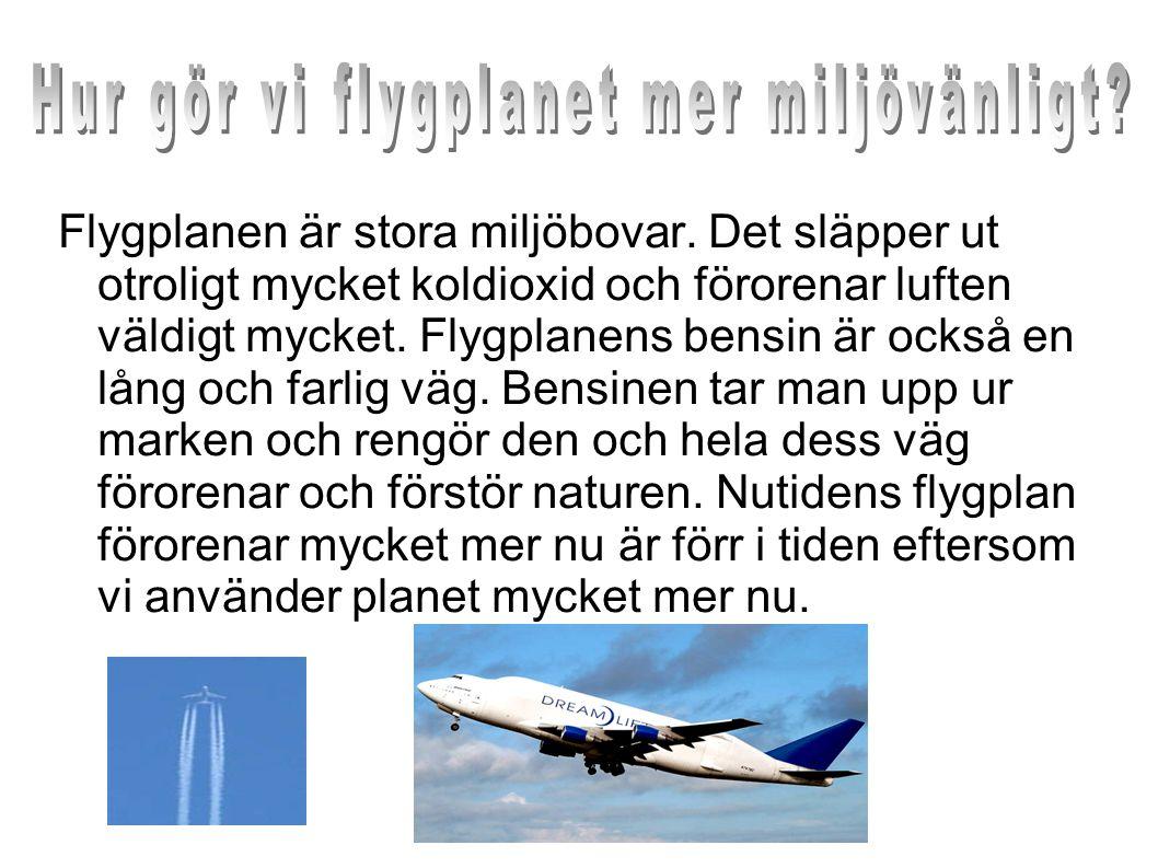 Hur gör vi flygplanet mer miljövänligt