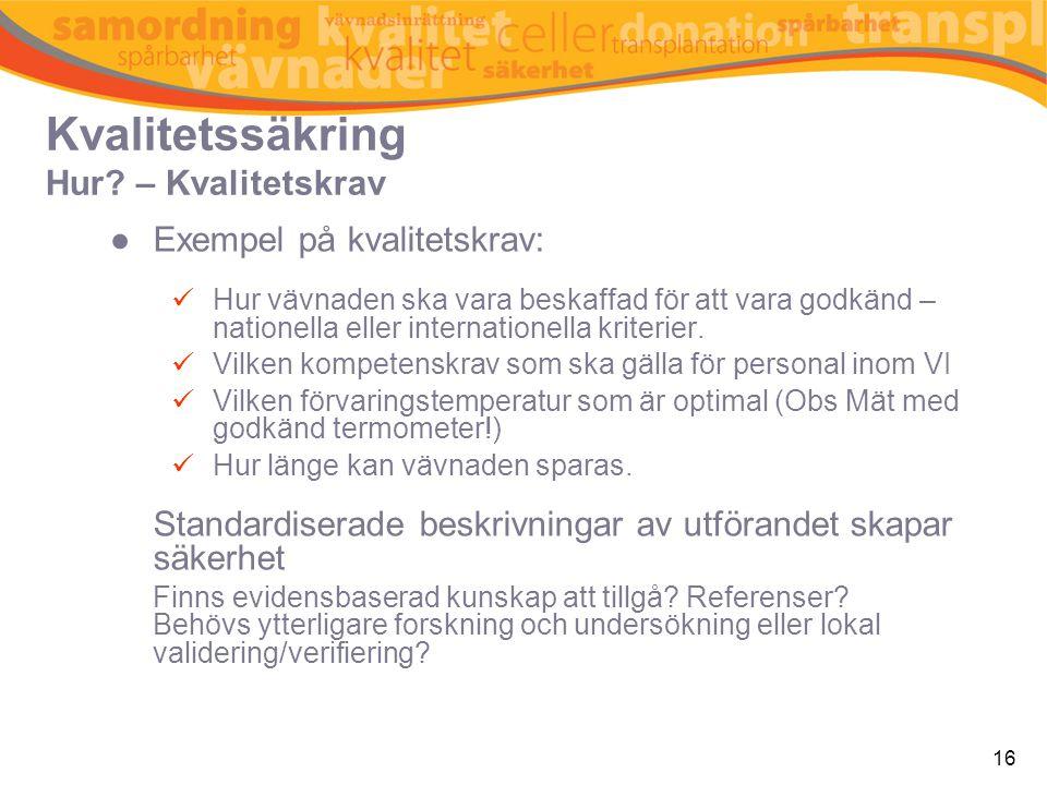 Kvalitetssäkring Hur – Validering och verifiering