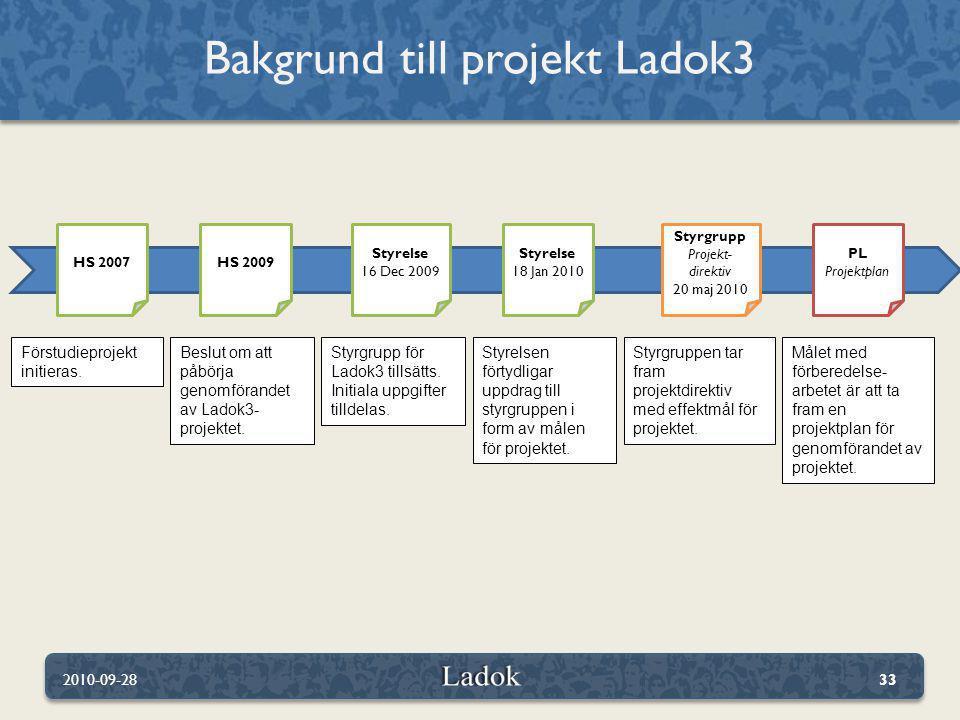 Bakgrund till projekt Ladok3