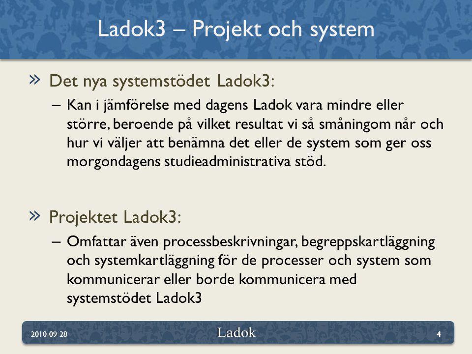 Ladok3 – Projekt och system