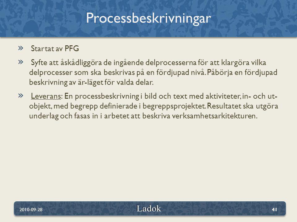 Processbeskrivningar