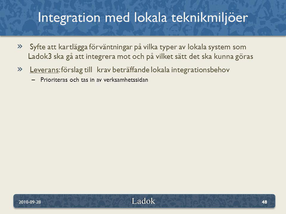 Integration med lokala teknikmiljöer