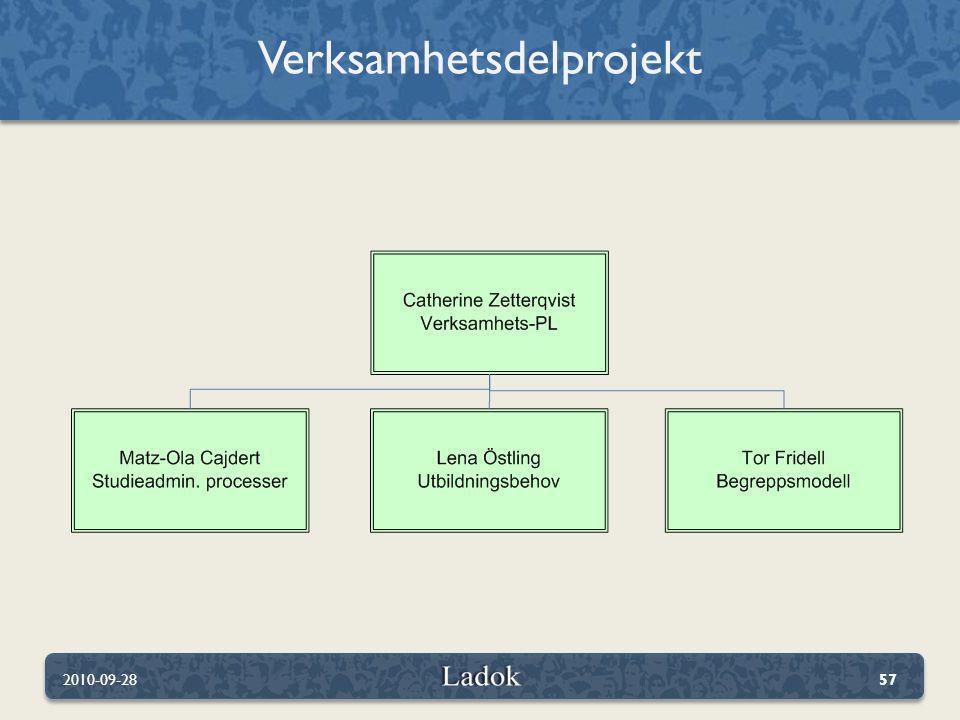 Verksamhetsdelprojekt