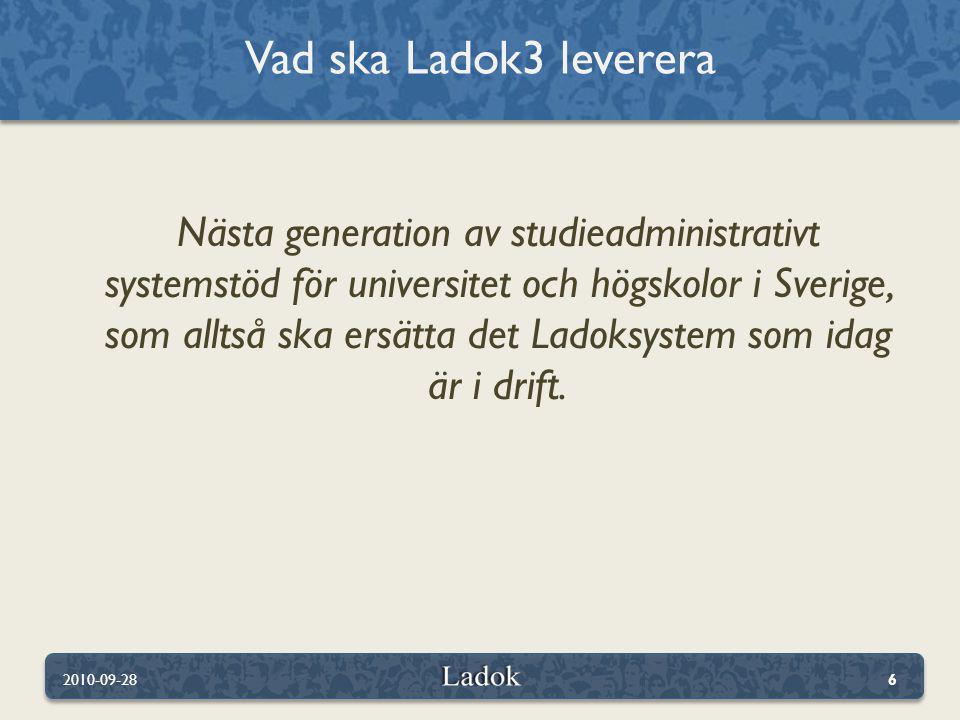 Vad ska Ladok3 leverera