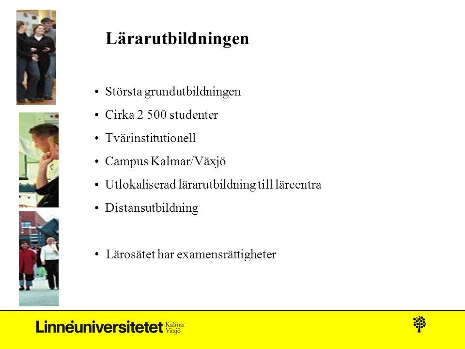 Lärarutbildningen Största grundutbildningen Cirka 2 500 studenter