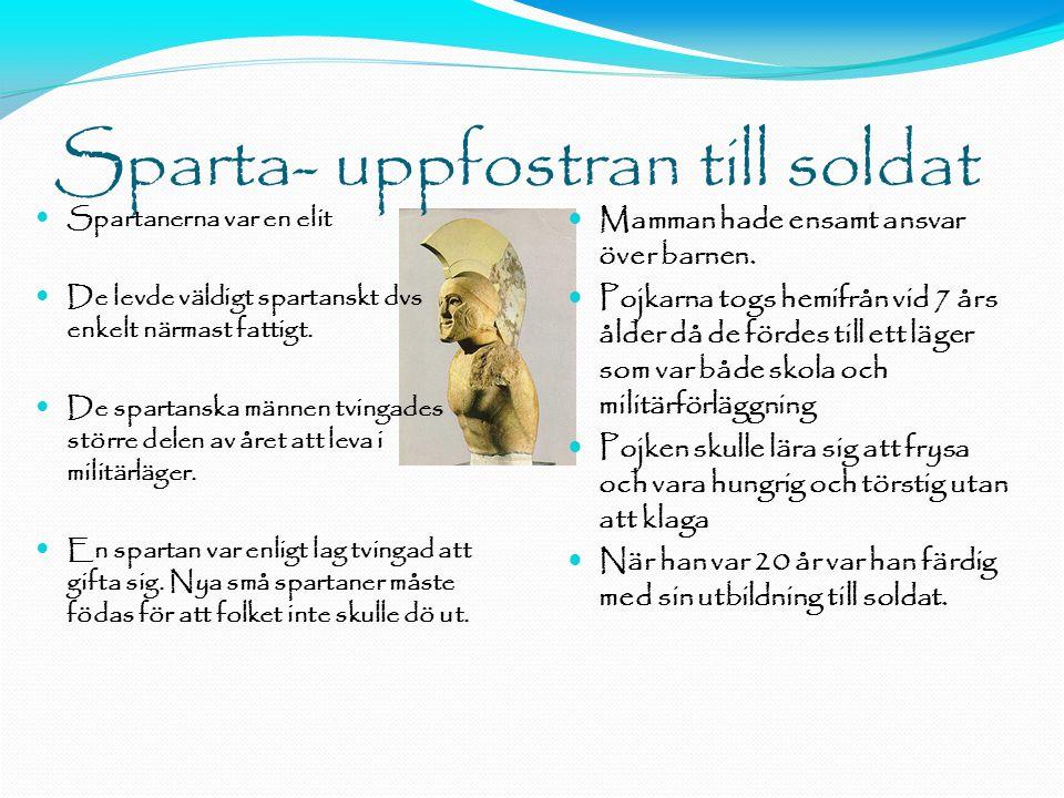 Sparta- uppfostran till soldat