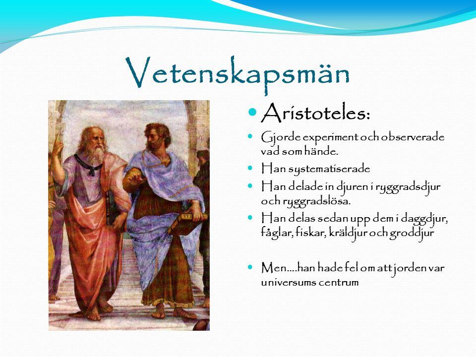 Vetenskapsmän Aristoteles: