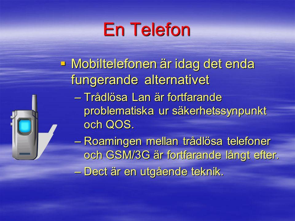 En Telefon Mobiltelefonen är idag det enda fungerande alternativet