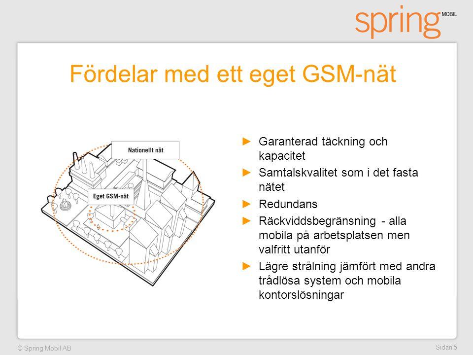 Fördelar med ett eget GSM-nät