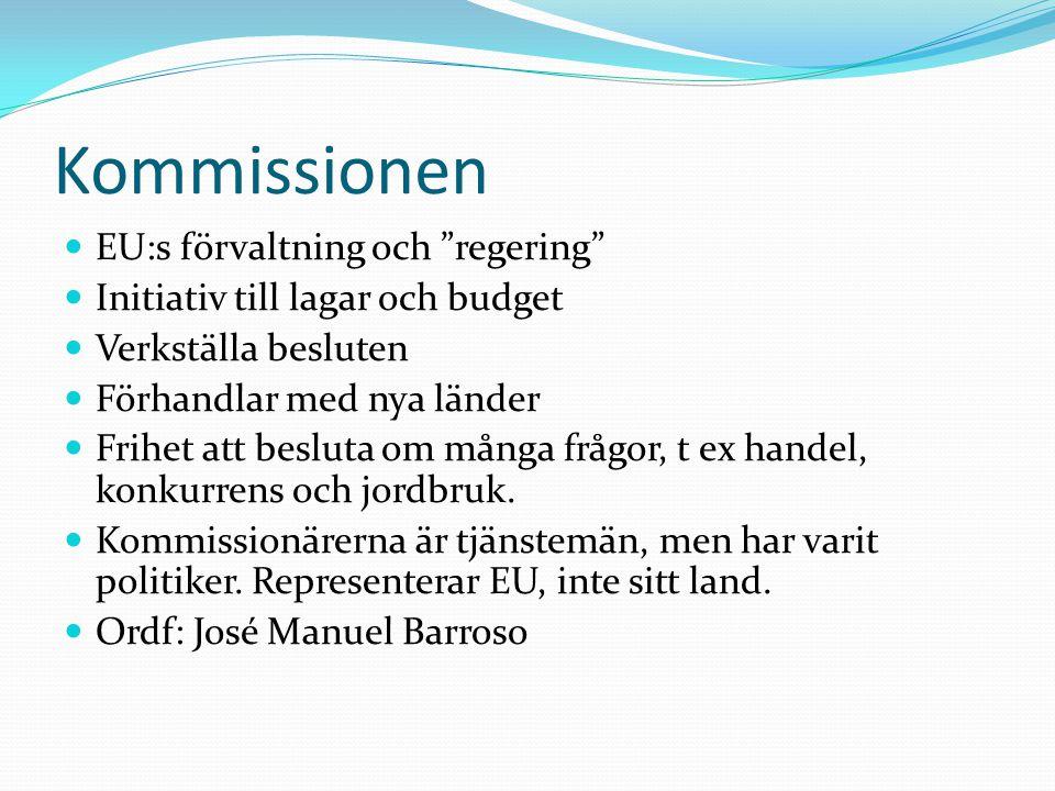 Kommissionen EU:s förvaltning och regering